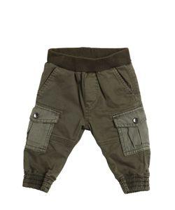 Diesel Kids | Stretch Cotton Gabardine Cargo Pants