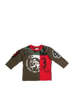 Diesel Kids | Patchwork Jersey Long Sleeve T-Shirt