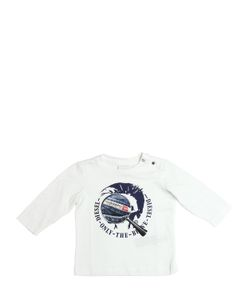 Diesel Kids | Logo Printed Jersey Long Sleeve T-Shirt