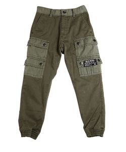 Diesel Kids | Stretch Cotton Gabardine Cargo Pants