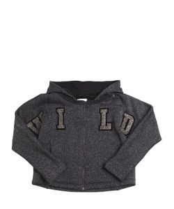Diesel Kids   Wild Patches Lurex Cotton Sweatshirt