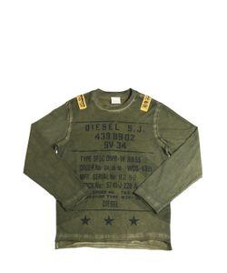 Diesel Kids   Printed Faded Jersey Long Sleeve T-Shirt