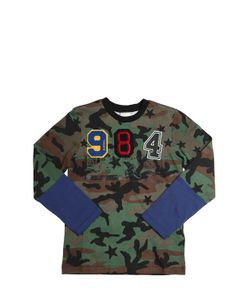 Diesel Kids   Camo Printed Jersey T-Shirt With Patches