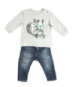Diesel Kids | Cotton Jersey T-Shirt Joggjeans