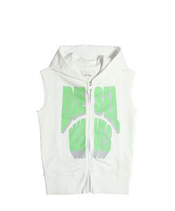 Diesel Kids   Hooded Sleeveless Cotton Sweatshirt