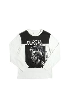 Diesel Kids   Mohican Printed Cotton Jersey T-Shirt