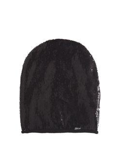 Diesel Kids   Sequined Jersey Beanie Hat