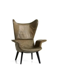 DIESEL LIVING | Longwave Leather Covered Armchair