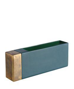 DIMORESTUDIO | Rectangular Ceramic Brass Vase