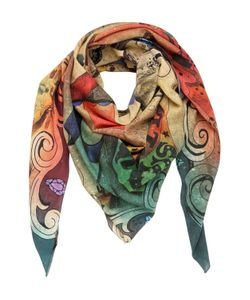 DMD HELMETS | Circus Printed Cotton Silk Blend Scarf