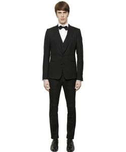 Dolce & Gabbana | Stretch Wool Gabardine 3 Piece Suit
