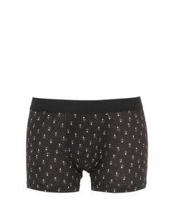 Dolce & Gabbana | Polka Dots Printed Cotton Jersey Boxer