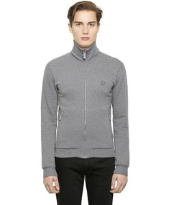 Dolce & Gabbana | High Collar Zip-Up Cotton Sweatshirt