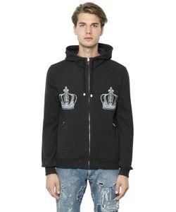 Dolce & Gabbana | Hooded Embroidered Cotton Sweatshirt