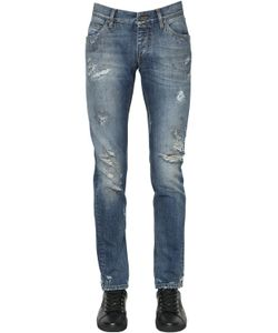 Dolce & Gabbana | 17cm Destroyed Cotton Denim Jeans