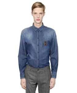 Dolce & Gabbana | Bee Crown Crest Cotton Shirt