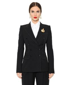 Dolce & Gabbana | Double Breasted Stretch Wool Jacket