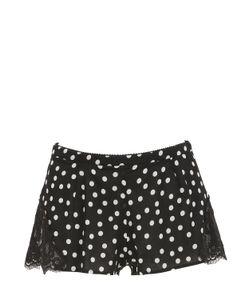 Dolce & Gabbana | Polka Dot Silk Georgette Lace Shorts