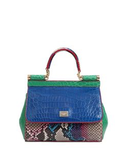 Dolce & Gabbana | Small Sicily Reptile Patchwork Bag