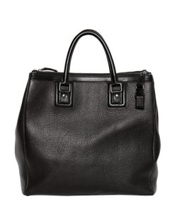 Dolce & Gabbana | Double Zip Grained Leather Shopping Bag