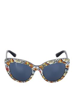 Dolce & Gabbana | Maiolica Acetate Cat-Eye Sunglasses