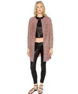 Drome | Leopard Printed Suede Coat