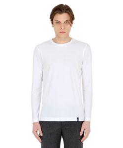 Drumohr | Cotton Crepe Jersey Long Sleeve T-Shirt
