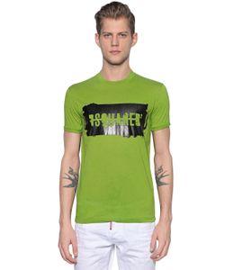 Dsquared2   Rubberized Logo Cotton Jersey T-Shirt