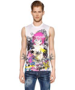 Dsquared2 | Manga Printed Jersey Sleeveless T-Shirt