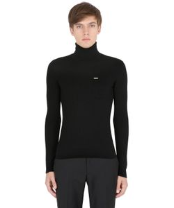 Dsquared2 | Wool Rib Knit Turtleneck Sweater