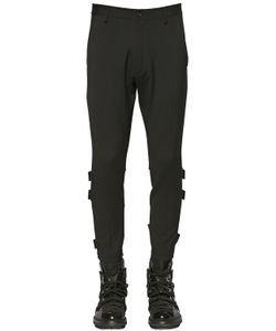 Dsquared2 | Belted Stretch Wool Cady Biker Pants