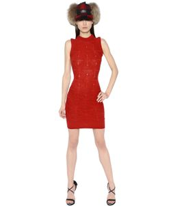Dsquared2 | Sleeveless Braded Wool Knit Dress