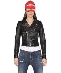 Dsquared2 | Lambskin Leather Biker Jacket