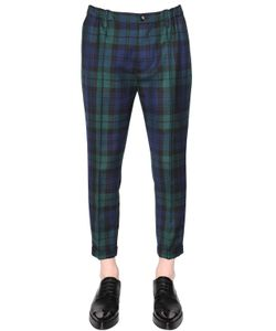 Dsquared2 | 17cm Plaid Stretch Wool Pants