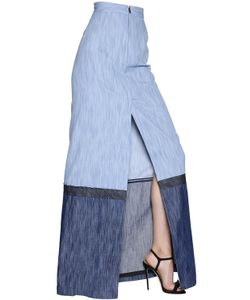 Dsquared2 | Cotton Denim Long Skirt With Front Slit