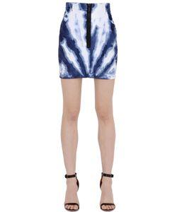 Dsquared2 | Tie Dyed Stretch Cotton Denim Skirt