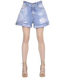 Dsquared2 | Kawaii Washed Destroyed Denim Shorts