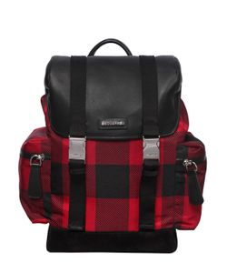 Dsquared2   Check Printed Nylon Backpack