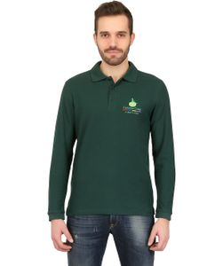 DYNAMO CAMP | Long Sleeved Cotton Pique Polo Shirt