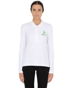DYNAMO CAMP | Long Sleeved Stretch Cotton Pique Polo