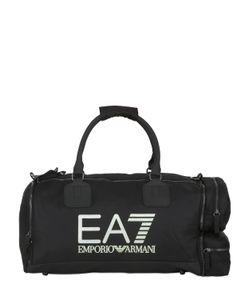 EA7 EMPORIO ARMANI   48l Logo Printed Nylon Canvas Duffle Bag