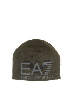 EA7 EMPORIO ARMANI   Logo Printed Knit Beanie Hat