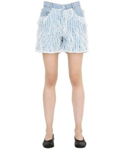 Each X Other | Frayed Cotton Denim Shorts