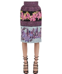 EKATERINA KUKHAREVA | Rose Patterned Jacquard Skirt