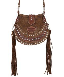 El Vaquero | Texi Studded Fringed Suede Shoulder Bag
