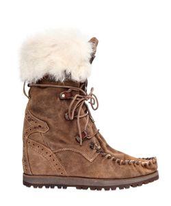 El Vaquero | 70mm Leia Lapin Fur Suede Boots