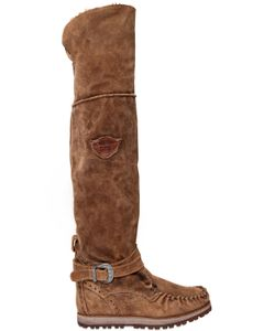El Vaquero | 70mm Warden Suede Tall Wedge Boots