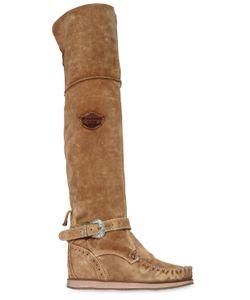 El Vaquero | 70mm Suede Over The Knee Wedge Boots