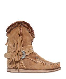 El Vaquero | 70mm Suede Wedge Ankle Boots