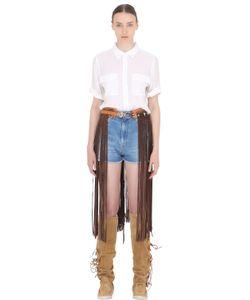 El Vaquero | Fringed Leather Suede Belt